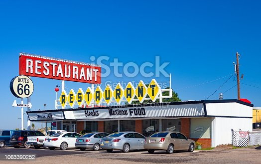 Santa Rosa, New Mexico, USA - August 12, 2015:  The Route 66 Restaurant in Santa Rosa, New Mexico along the historic Route 66.