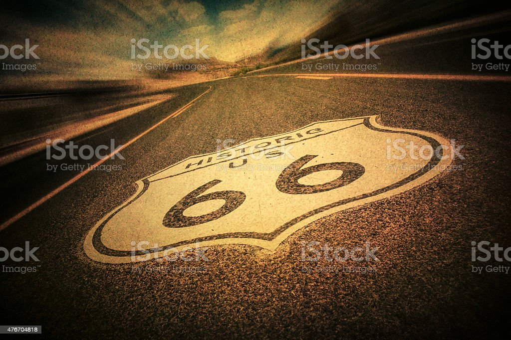 Route 66 Retro Style stock photo