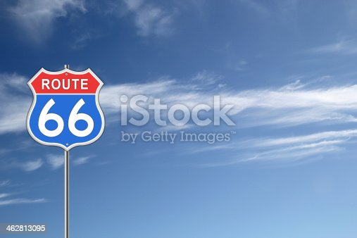 istock Route 66 Road Sign. 462813095