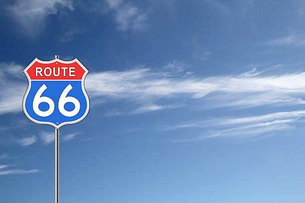 route 66 road sign. - arizona highway signs stockfoto's en -beelden