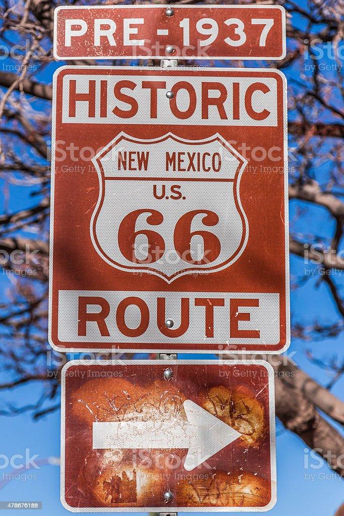 Route 66, Santa Fe, New Mexico stock photo