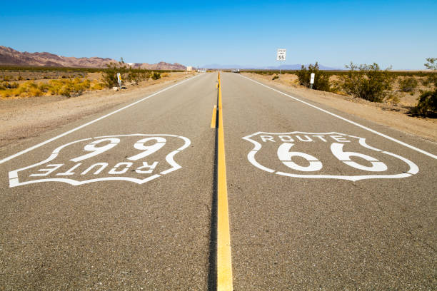Route 66 Sign, California, USA stock photo