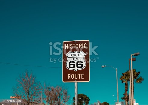 Historic Old Route 66 sign in Arizona