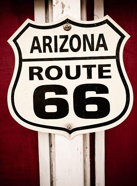 route 66 sign - arizona highway signs stockfoto's en -beelden