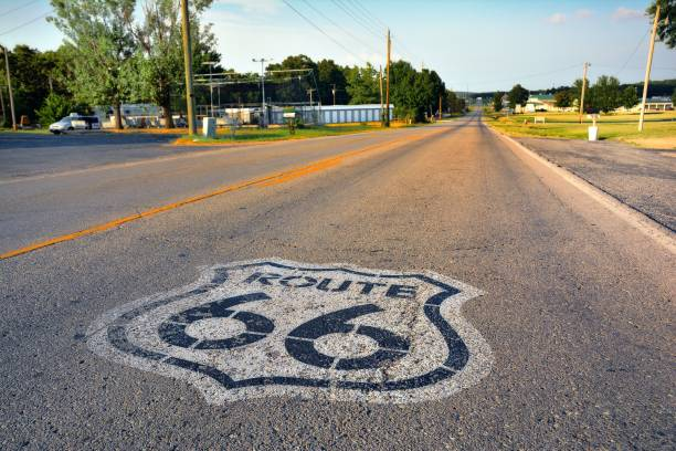 Route 66 sign. stock photo