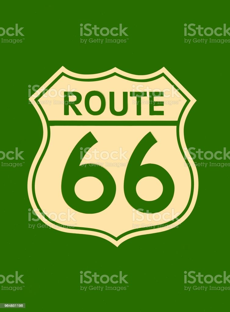 Route 66 sign. royalty-free stock photo
