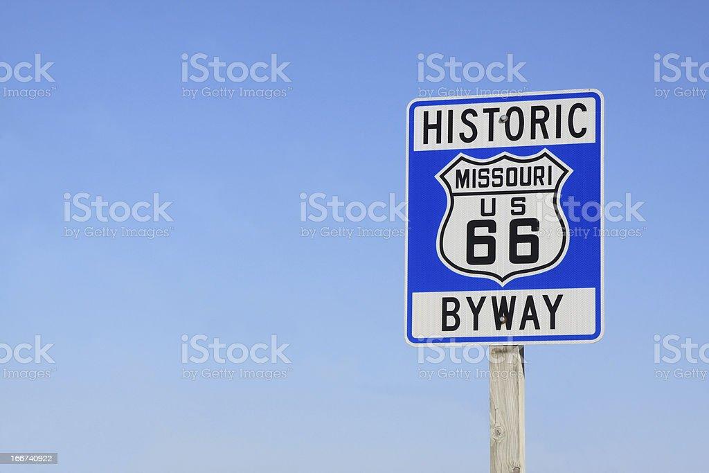 Route 66 Sign-Missouri, U.S.A. stock photo
