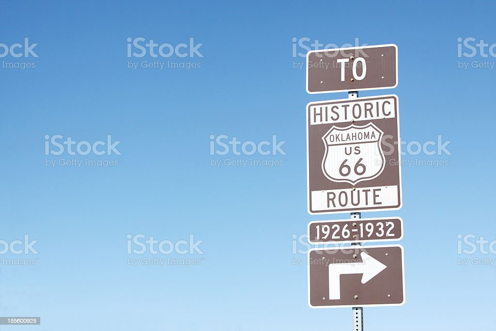 Route 66 Sign-Oklahoma royalty-free stock photo