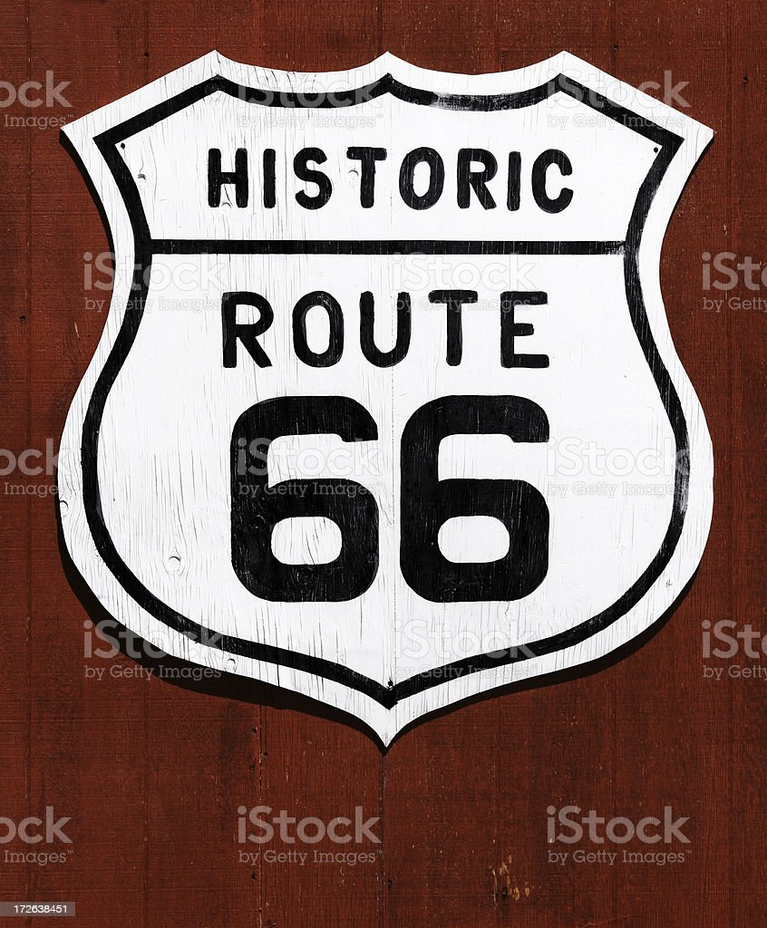 US Route 66 Signpost stock photo
