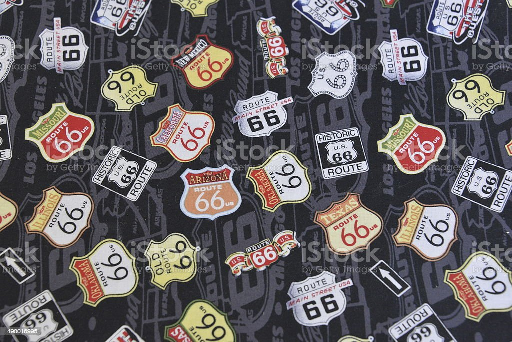 Route 66 Sign's Illustration stock photo