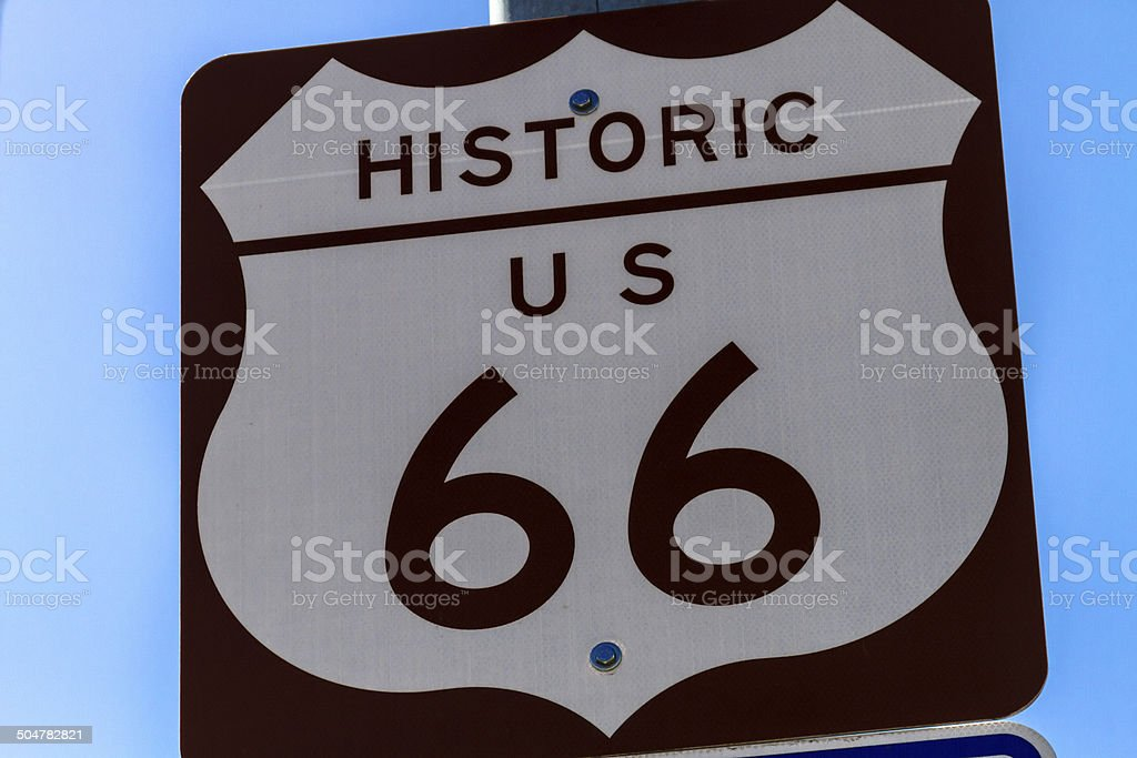 Route 66 Signs stock photo
