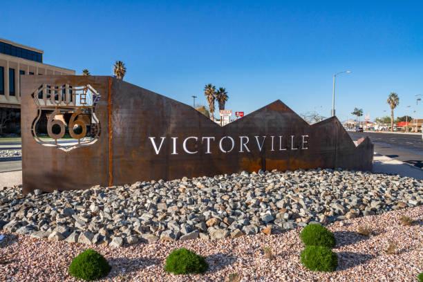 Route 66 Victorville Street Art stock photo