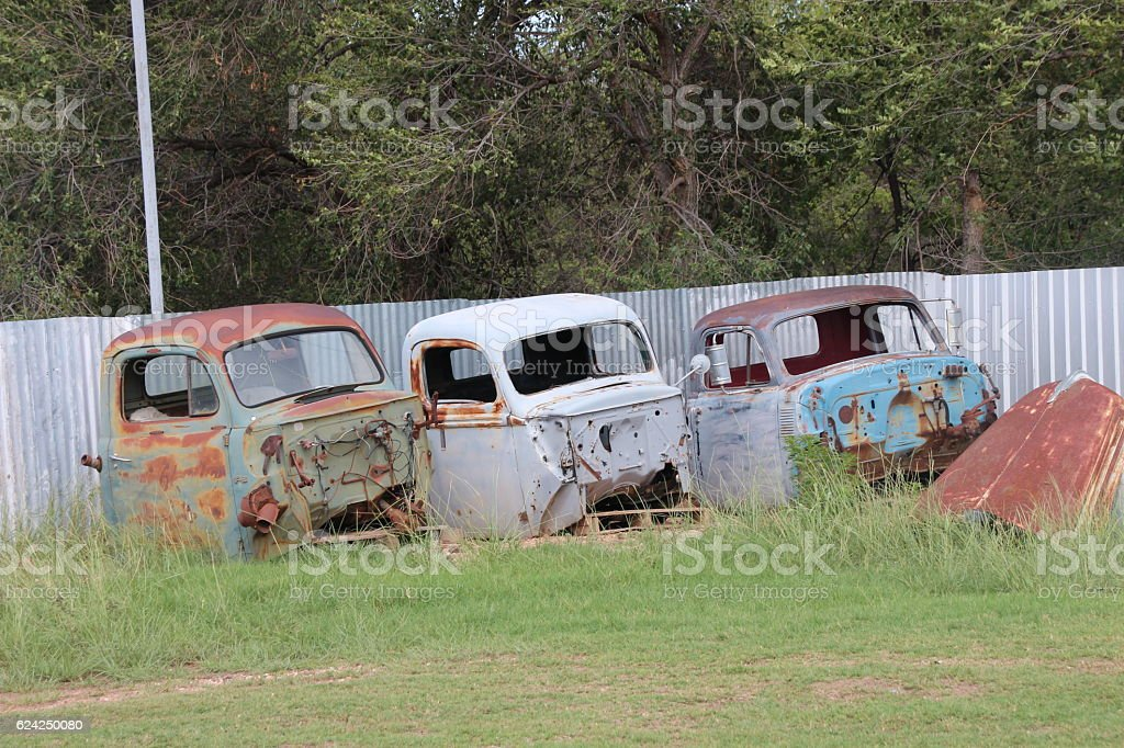 Route 66 Wrecks stock photo