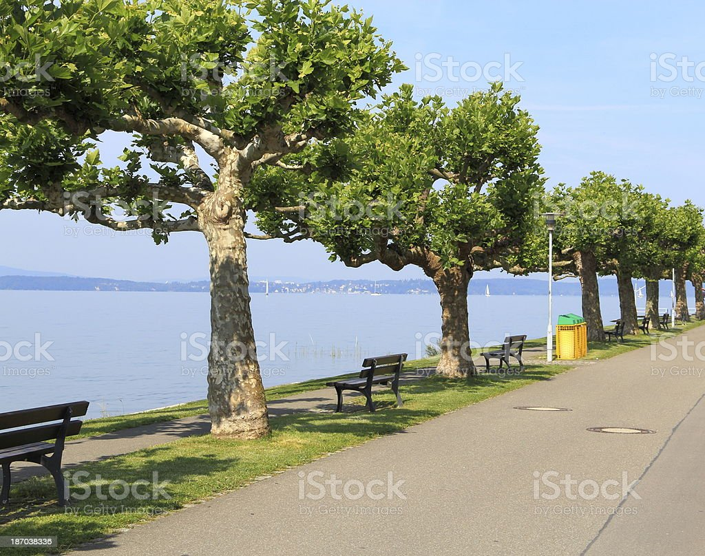 Route along Lake Constance. stock photo