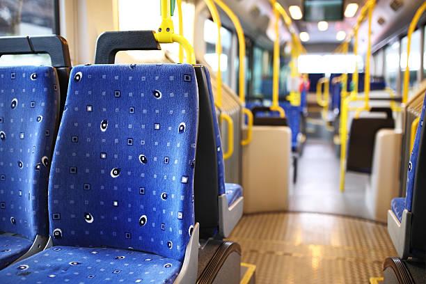 Route bus in Dubai. stock photo