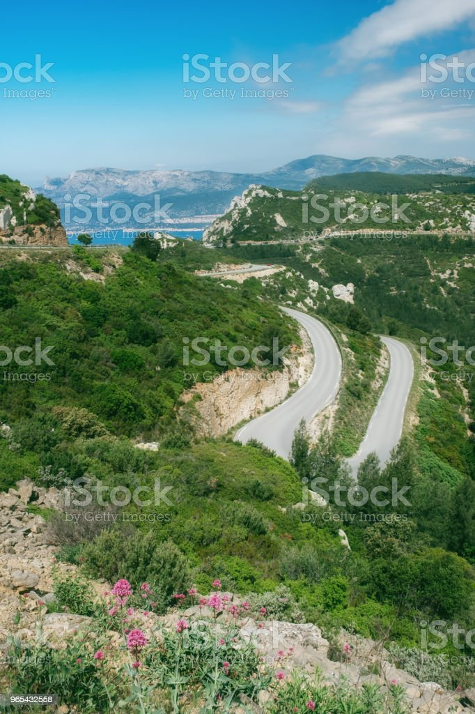 Route des Cretes, Provence, France royalty-free stock photo