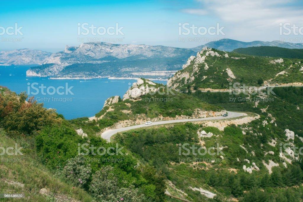 경로 des Cretes, 프로방스, 프랑스 - 로열티 프리 0명 스톡 사진