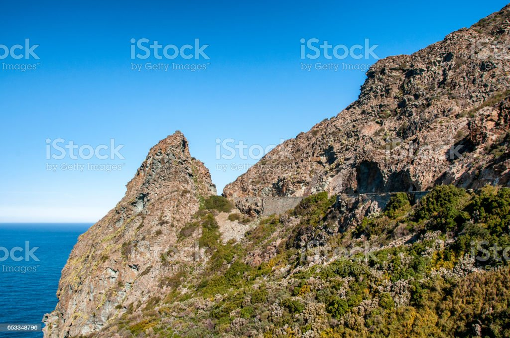 route du cap Corse stock photo