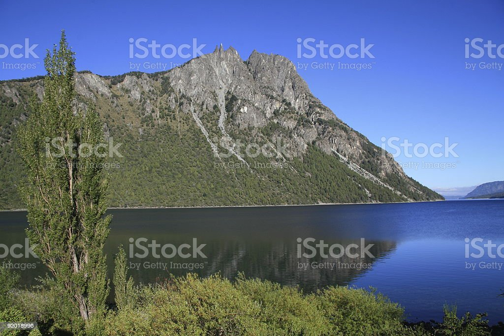 Route of the seven lakes, Bariloche royalty-free stock photo