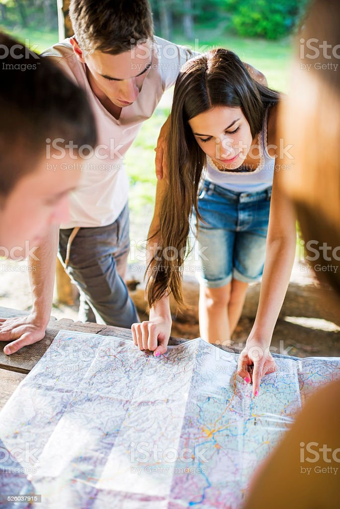 Route planning. stock photo