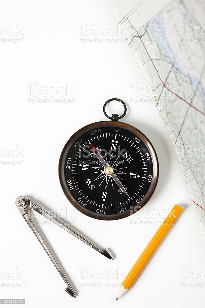 Route planning the expert way stock photo