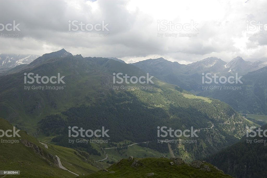 Route through the mountians royalty-free stock photo