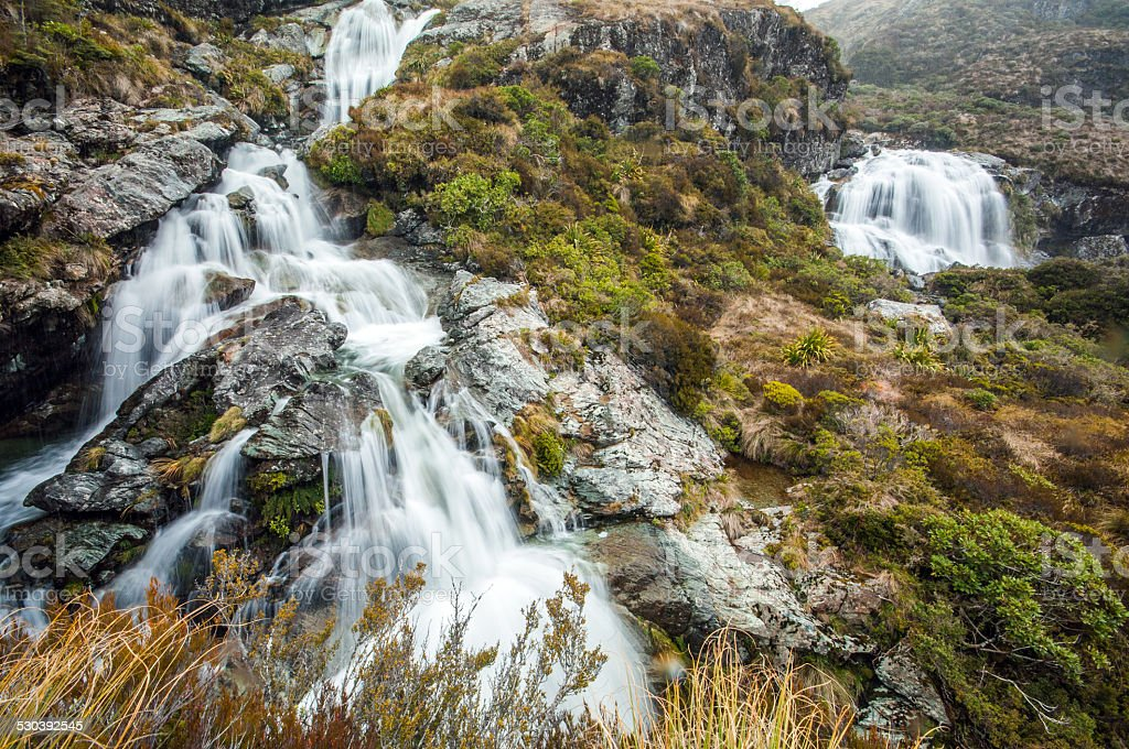 Routeburn Falls stock photo