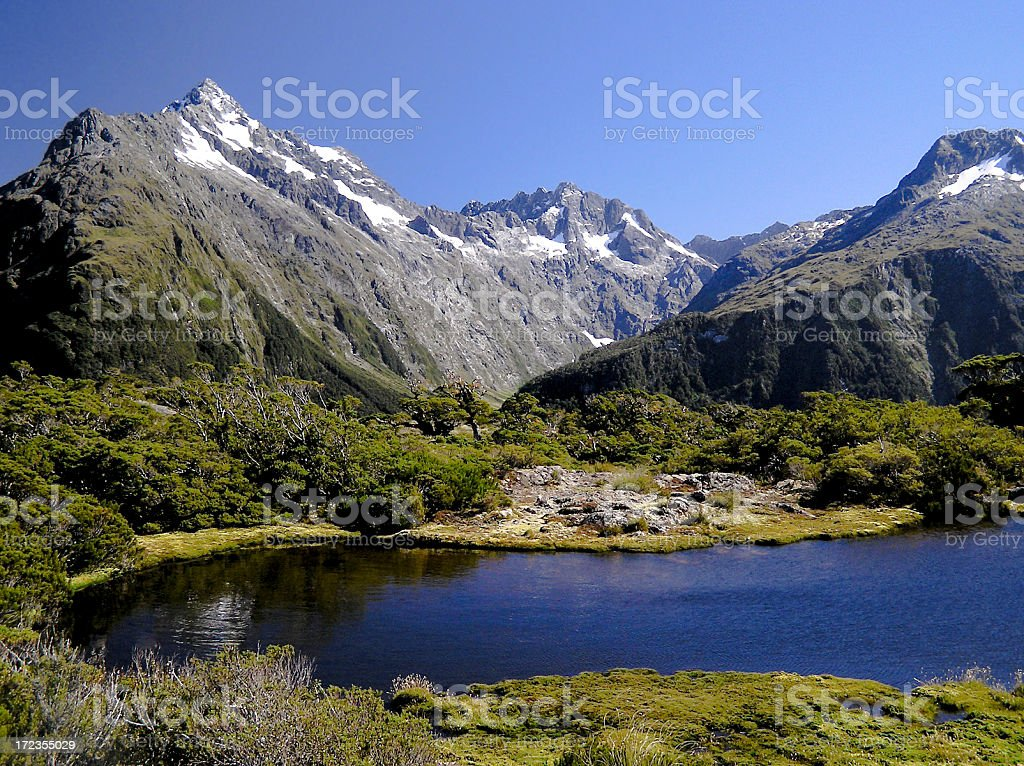 Routeburn Track royalty-free stock photo