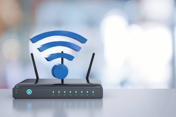 router with wi-fi stock photo