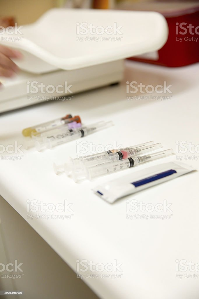 Routine vaccinations from the veterinarian. royalty-free stock photo