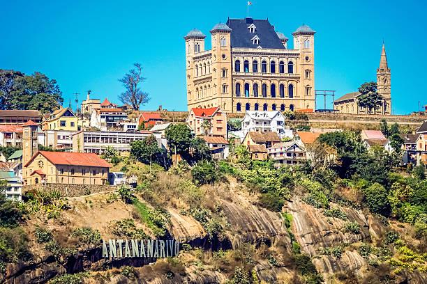 Rova Palace in Antananarivo stock photo