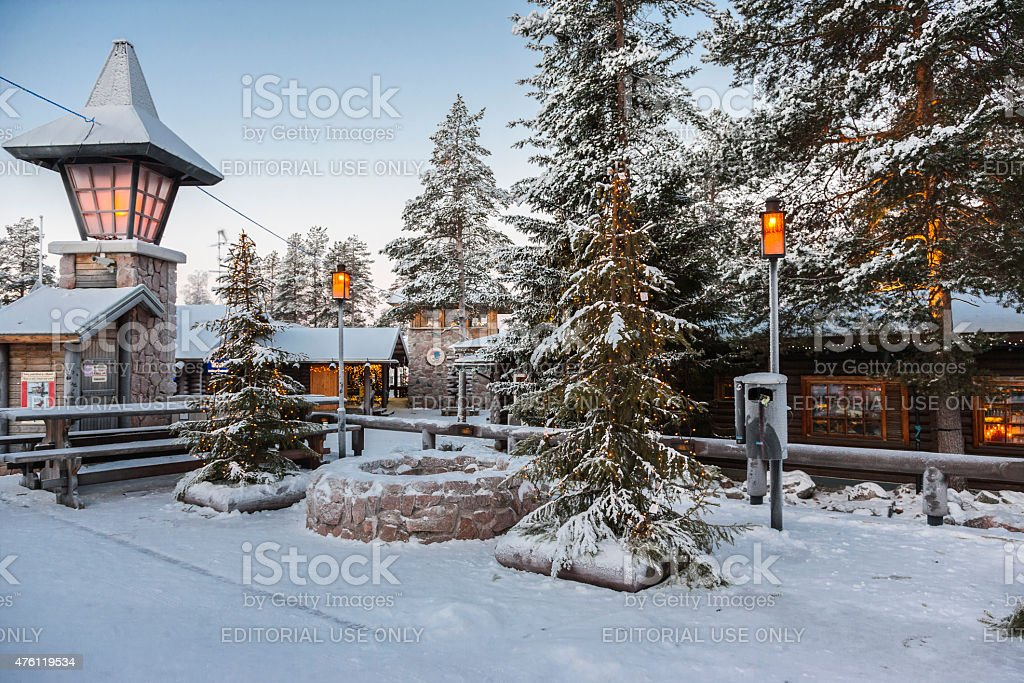 rovaniemi finland santa claus village at the arctic circle stock
