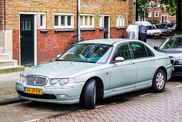 Rover 75 Amsterdam, Netherlands - August 10, 2014: Motor car Rover 75 is parked at the city street. rover stock pictures, royalty-free photos & images
