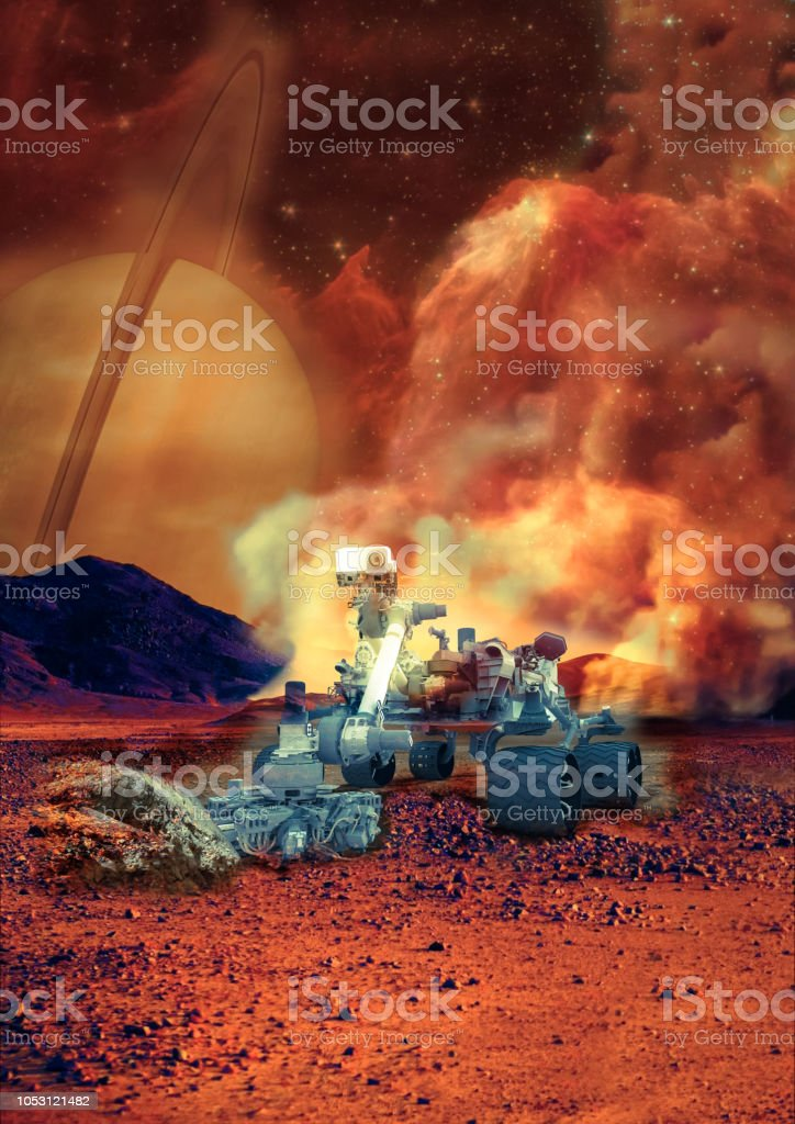 Rover On The Mars Collage Elements Of This Image Furnisfurnished By