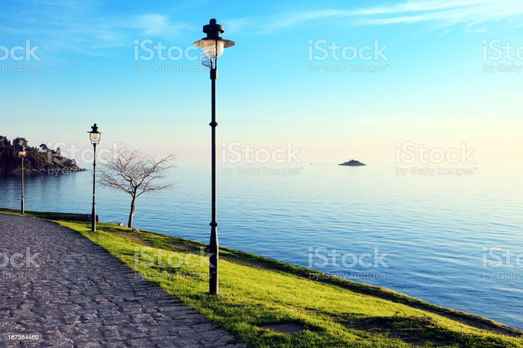 Rovinj City promenade royalty-free stock photo