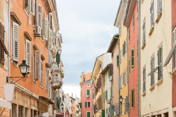 Rovinj, Istrien, Kroatien - Historische Häuser in der Altstadt von Rovinj – Foto