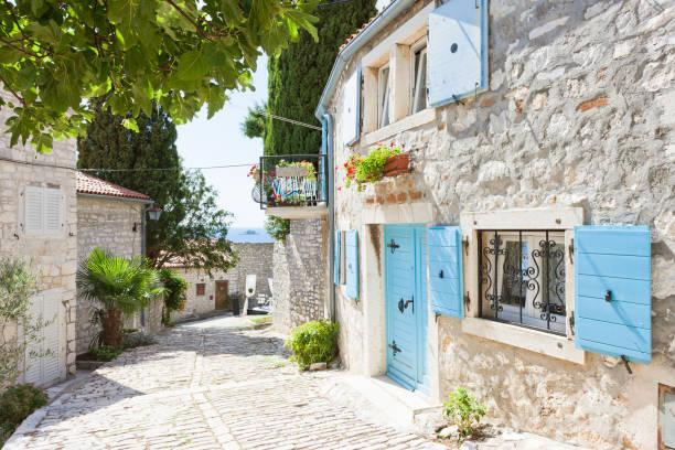 Rovinj, Istrien, Kroatien - Malerische Gasse des Mittelalters – Foto