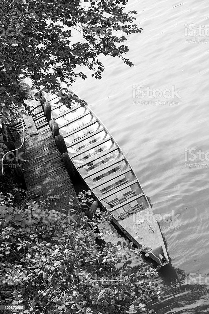 Row Boat Docked royalty-free stock photo
