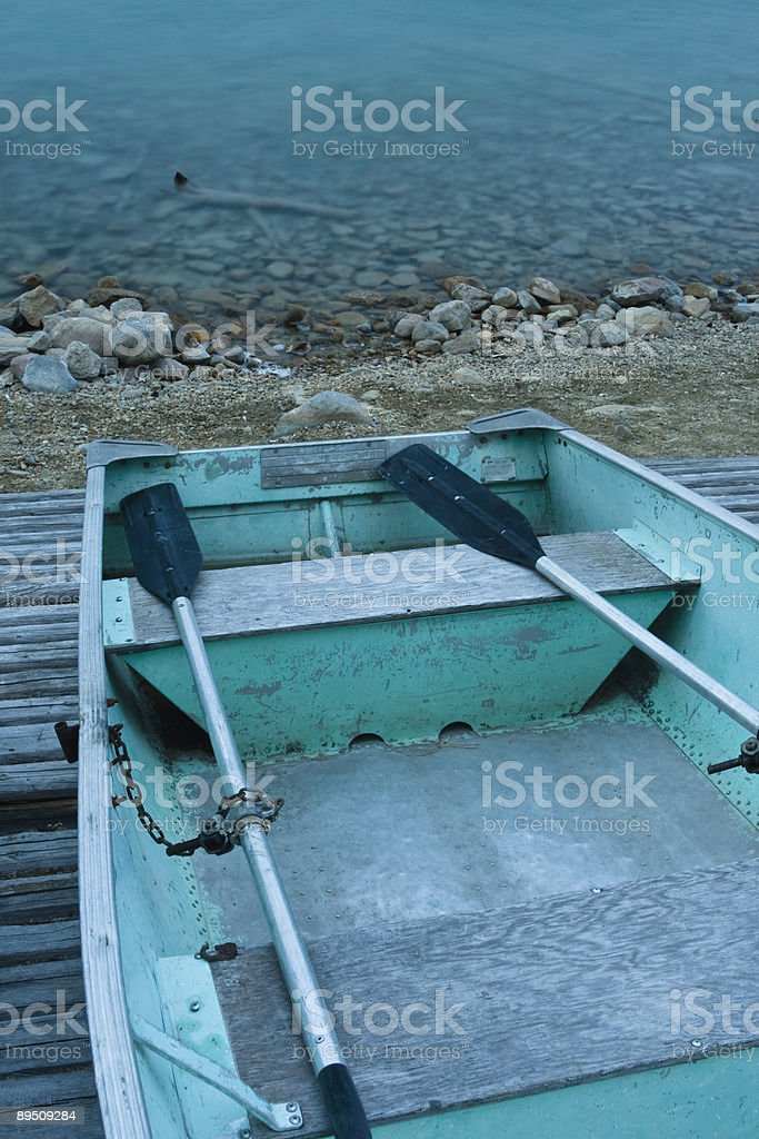 Row Boat On The Waters Edge royalty-free stock photo