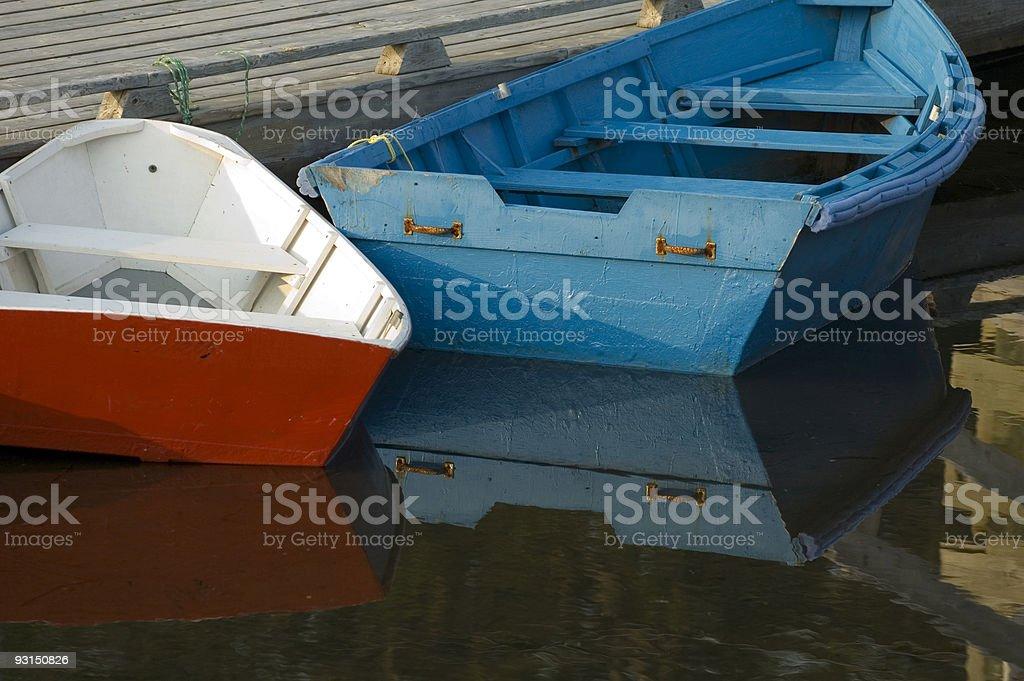 row boats at dock royalty-free stock photo
