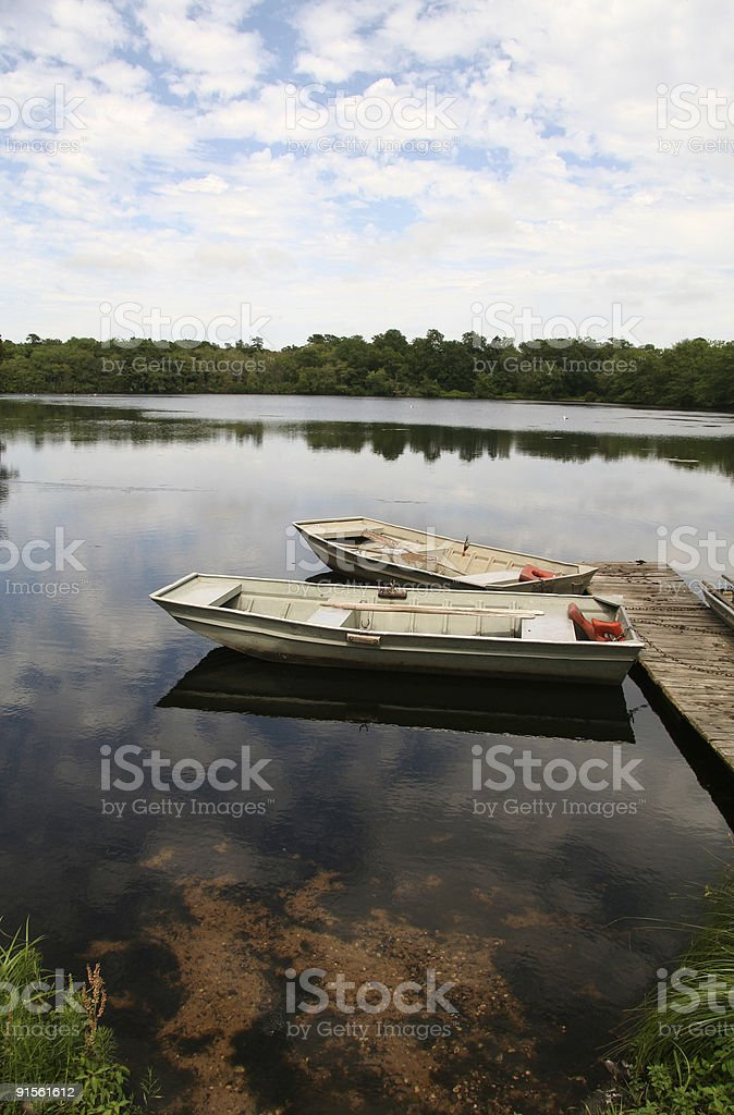 Row Boats on the Lake royalty-free stock photo