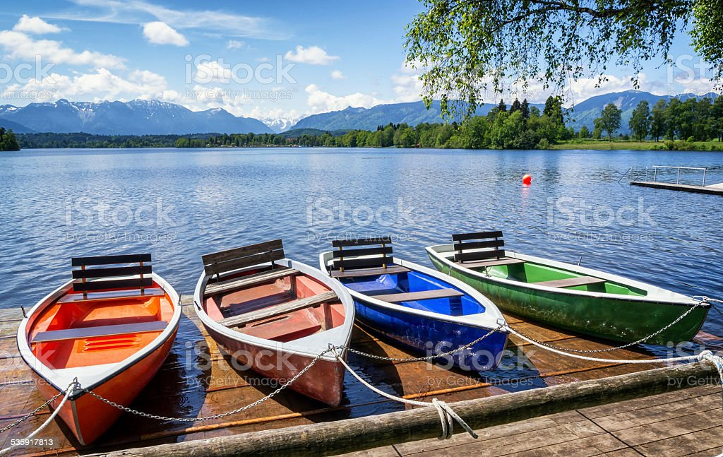 row boats stock photo