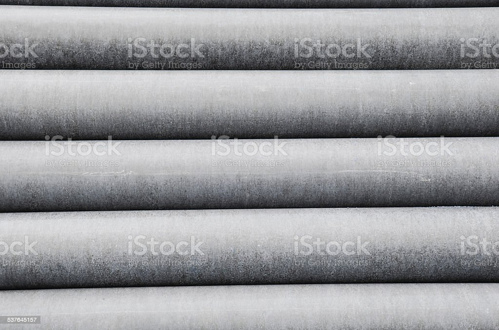 Row Cement pipes stock photo