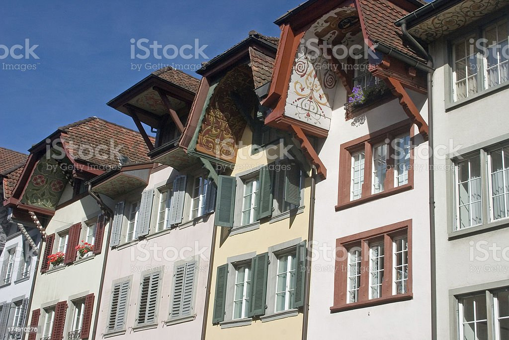 Row Houses in Aarau stock photo
