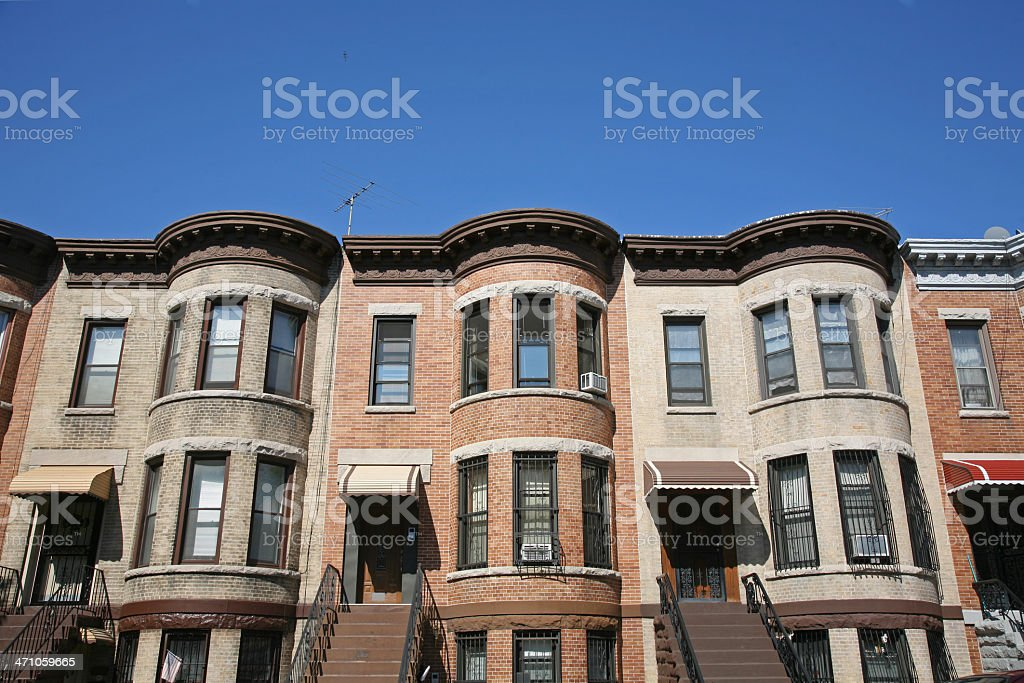 Row Houses In Brooklyn royalty-free stock photo
