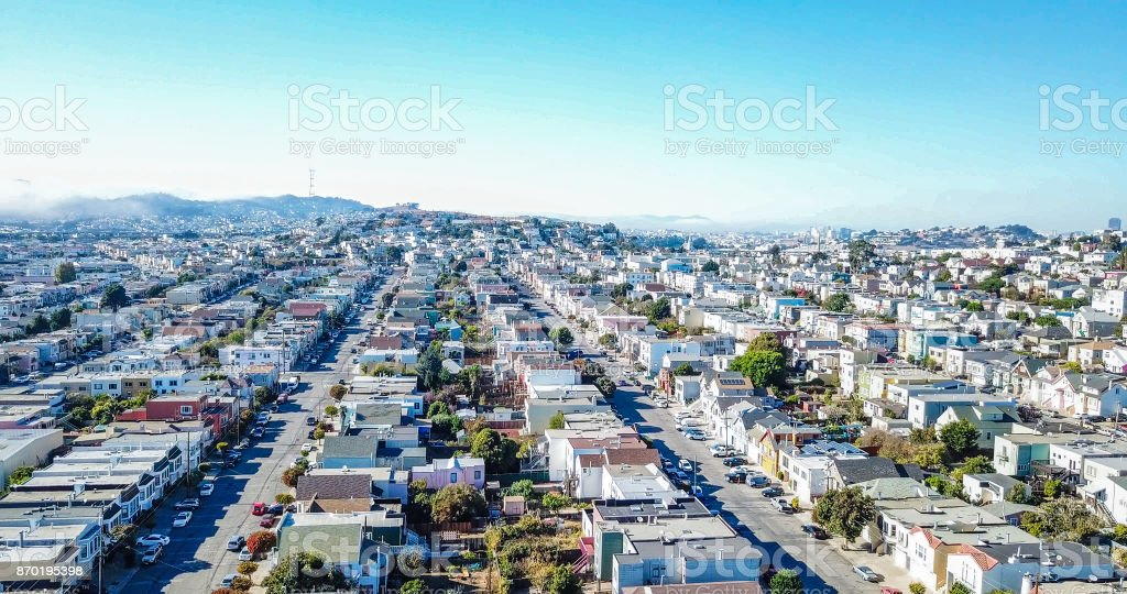 Row Houses in San Francisco stock photo