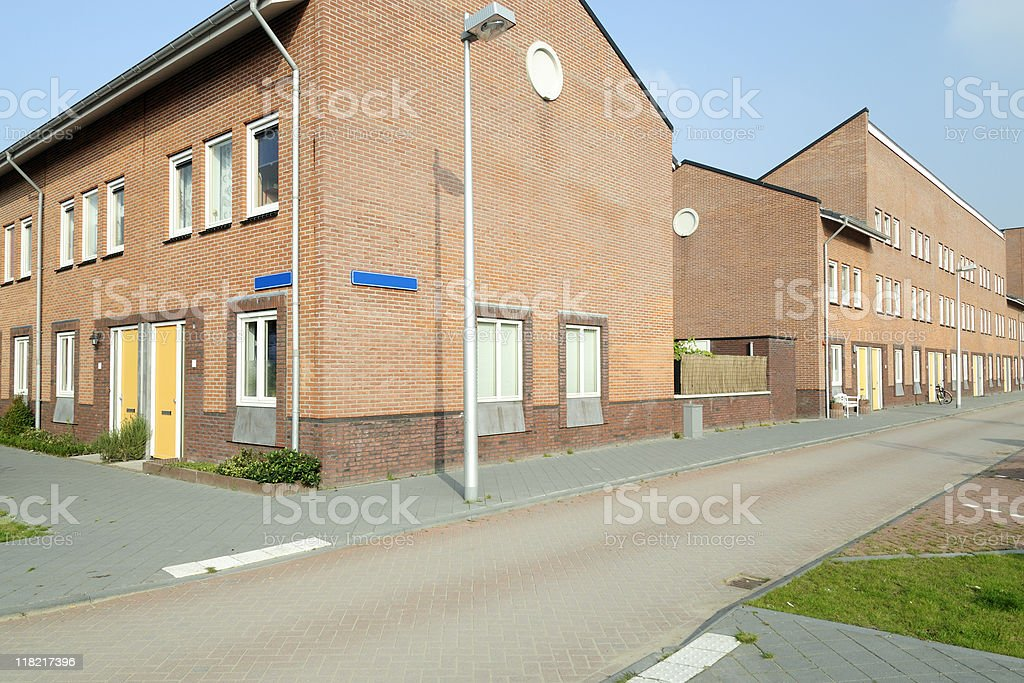 Row houses in the Netherlands royalty-free stock photo