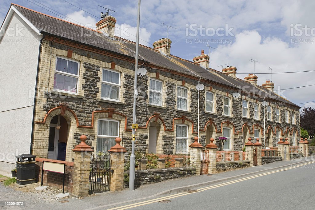 Row Houses In Wales royalty-free stock photo