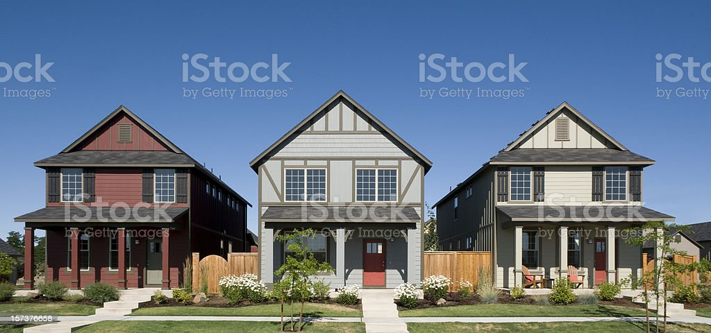 Row houses stock photo