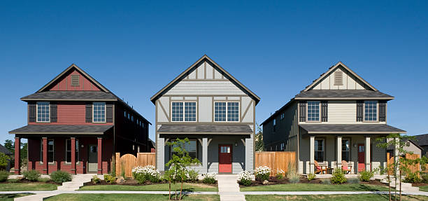 row houses - in a row stock pictures, royalty-free photos & images
